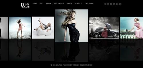 Core WordPress photo gallery theme